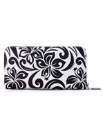 Happy Wahine Hibiscus Black Long Wallet Kaylee