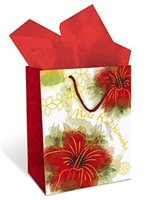 Island Heritage Kalikimaka Christmas Gift Bag 1Piece Medium
