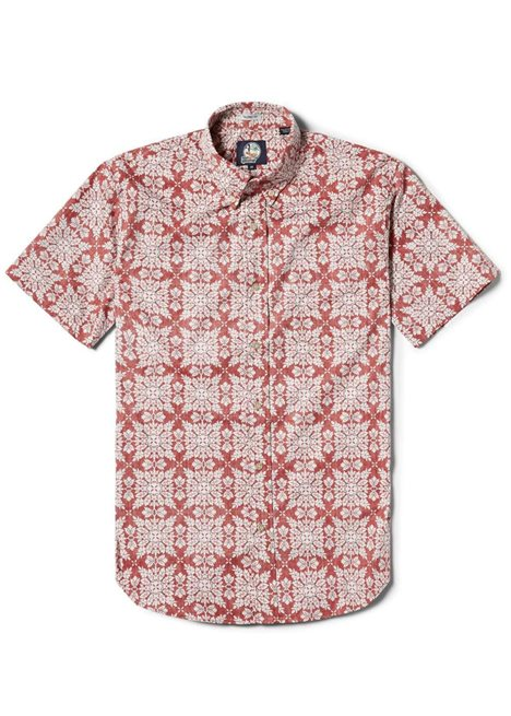 Christmas Hawaiian Shirt.2018 Christmas Quilt Red Cotton Men S Hawaiian Shirt Tailored Fit