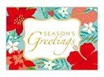 Island Heritage Floral Holiday Box Christmas Cards Deluxe 12 cards & 13 envelopes