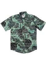 Rix Island Wear Banana Patch Green Cotton Men's Hawaiian Shirt Slim Fit