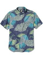 Reyn Spooner Osaka Dream Ink Cotton Men's Hawaiian Shirt Tailored Fit