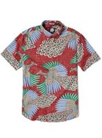 Reyn Spooner Osaka Dream Crimson Cotton Men's Hawaiian Shirt Tailored Fit