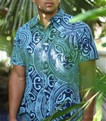 Hinano Tahiti Noa Navy Men's Hawaiian Shirt