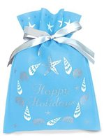 Island Heritage Seashell Wreath Happy Holiday Drawstring Gift Bag