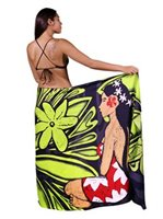 Hinano Tahiti Telila Lime Puch Screen Printed Pareo