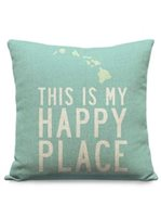 SoHa Living This Is My Happy Place Aqua Pillow Cover