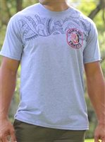 Hinano Tahiti Taua Grey Men's T-Shirt