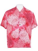 Hilo Hattie Coral Coral Rayon Men's Hawaiian Shirt