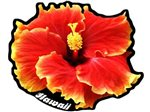 Hibiscus Hawaiian Island Decals
