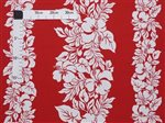 Hibiscus White&Red Poly Cotton ETU-436