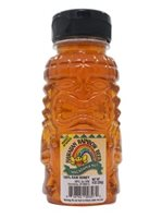 Hawaiian Rainbow Bees Macadamia Nut 9oz Honey Tiki  Bottle