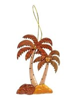Aloha Wood Art Palm Tree Short/Tall  Wood Ornament