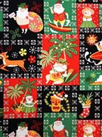 Hawaiian Santa Black Cotton MY-17-187