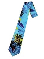 Hilo Hattie Palm Tree Blue Hawaiian Necktie