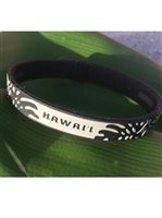 [Hawaii Exclusive] Phiten Hawaii Monstera Titanium Bracelet