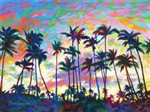 "David Friedman Beach Park Sunset  Wall Art 10"" x 8 """