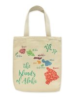 Island Heritage The Island Of Aloha Woven Tote Bag