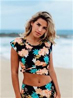 Vermilli Hawaii Black Peony Mini Top