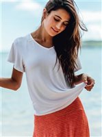 Vermilli Hawaii White Flutter Top