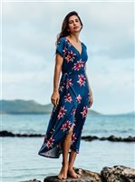 Vermilli Hawaii Blossom Akela Maxi Dress