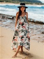 Vermilli Hawaii Soft Palms Janica Maxi Dress