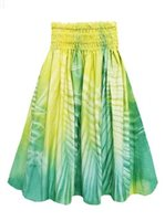 Bozo Palm Light Green Hand-dyed Single Pau Skirt