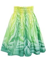 Bozo Palm&Lawai Light Green Hand-dyed Single Pau Skirt