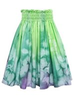 Bozo Waiwi Green&Purple Hand-dyed Single Pau Skirt
