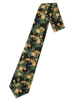Hilo Hattie Pineapple Black Hawaiian Necktie