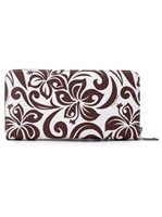 Happy Wahine Hibiscus Brown Long Wallet Kaylee