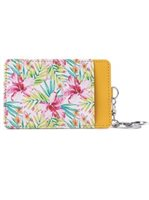 Happy Wahine Watercolor Hibiscus Yellow Card Case April Spring