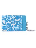 Happy Wahine Monstera Orchid Blue Card Case April Spring