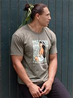Hinano Tahiti Ropati Olive Heather Men's T-Shirt