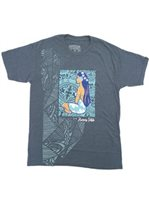 Hinano Tahiti Ropati Navy Heather Men's T-Shirt