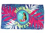 Hinano Tahiti Eunike Navy Screen Printed Pareo