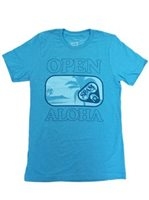 SPAM HAWAII Spam Open Aloha Turquoise Unisex Hawaiian T-Shirt