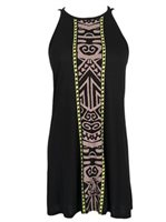 Hinano Tahiti Lea Black Short Dress
