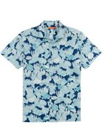 Tori Richard Reef Story Navy Cotton Men's Hawaiian Shirt