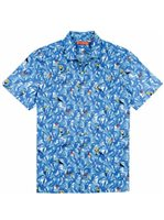 Tori Richard Totally Flocked White Cotton Men's Hawaiian Shirt