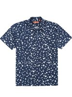 Tori Richard Conchology Navy Cotton/Spandex Men's Hawaiian Shirt
