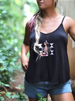 Hinano Tahiti Mara Black Ladies Tank Top