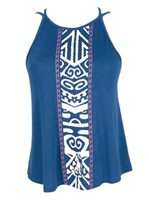 Hinano Tahiti Tepora Navy Ladies Tank Top