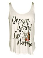 Hinano Tahiti Lili Whisper White Ladies Tank Top