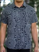 Hinano Tahiti Noa Black Men's Hawaiian Shirt