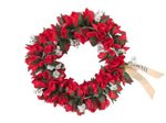 Red Double Rose Bud Headband (Haku Lei)