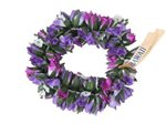 Purple & Blue Double Rose Bud Headband (Haku Lei)