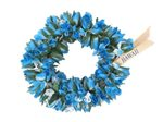 Blue Double Rose Bud Headband (Haku Lei)