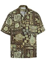 [Summer 2019] Jams World Anahola Bay Brown Men's Hawaiian Shirt