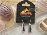 Triangle Dangling Pewter Paua Shell Earrings